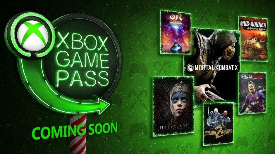 Xbox Game Pass декабрь 2018