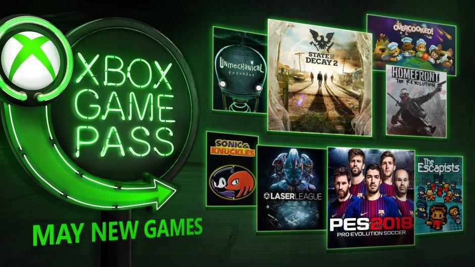 Xbox Game Pass май 2018