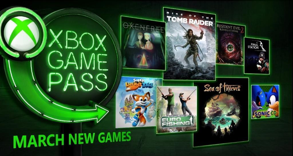 Xbox Game Pass март 2018