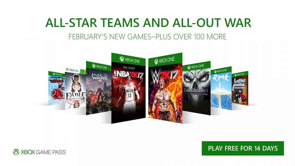 Xbox Game Pass январь 2018