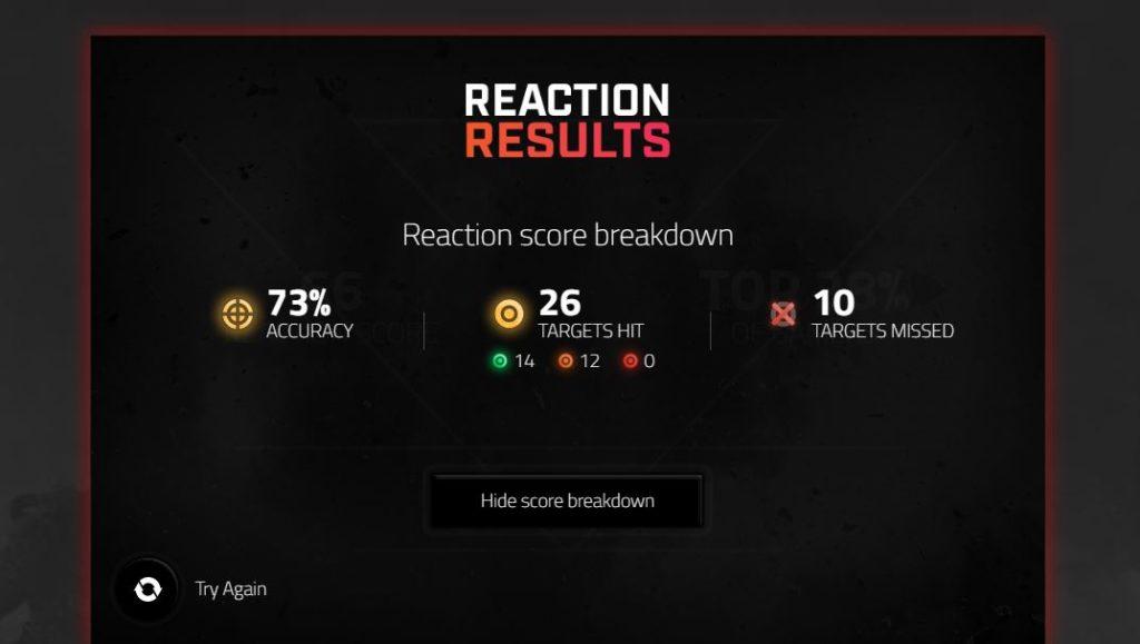 LG Elite Reaction Test