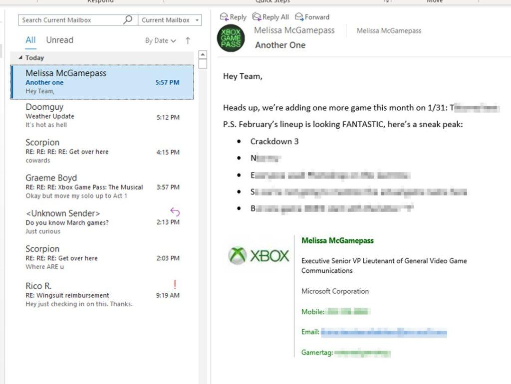 Тизер Xbox Game Pass Февраль