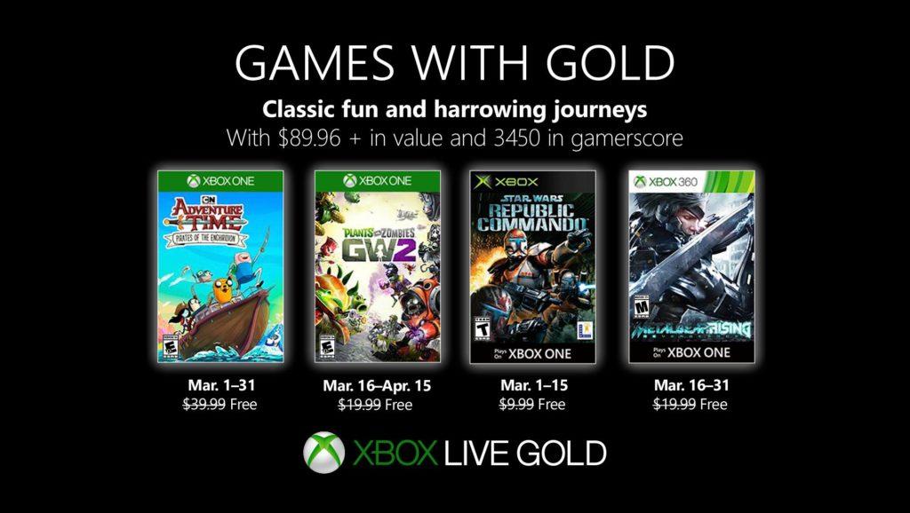 Xbox Live Gold март 2019