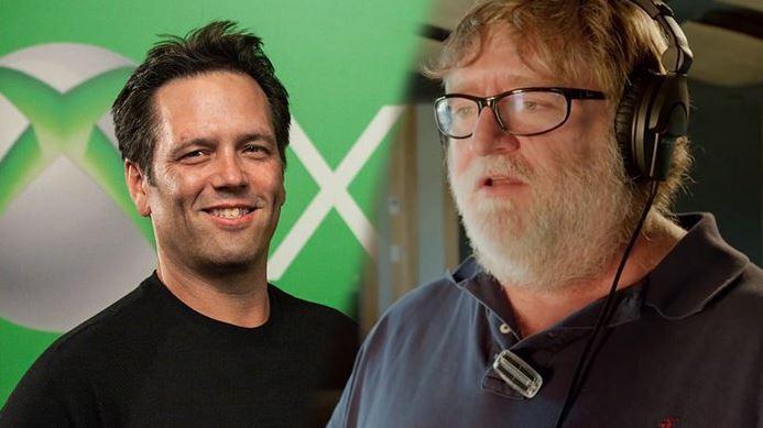 Gabe Newell Phil Spencer