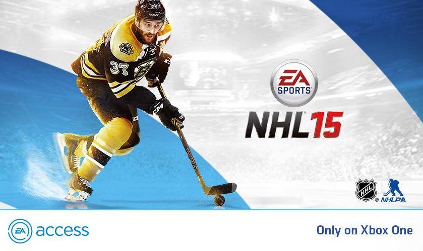 NHL 15 удалена из хранилища EA Access