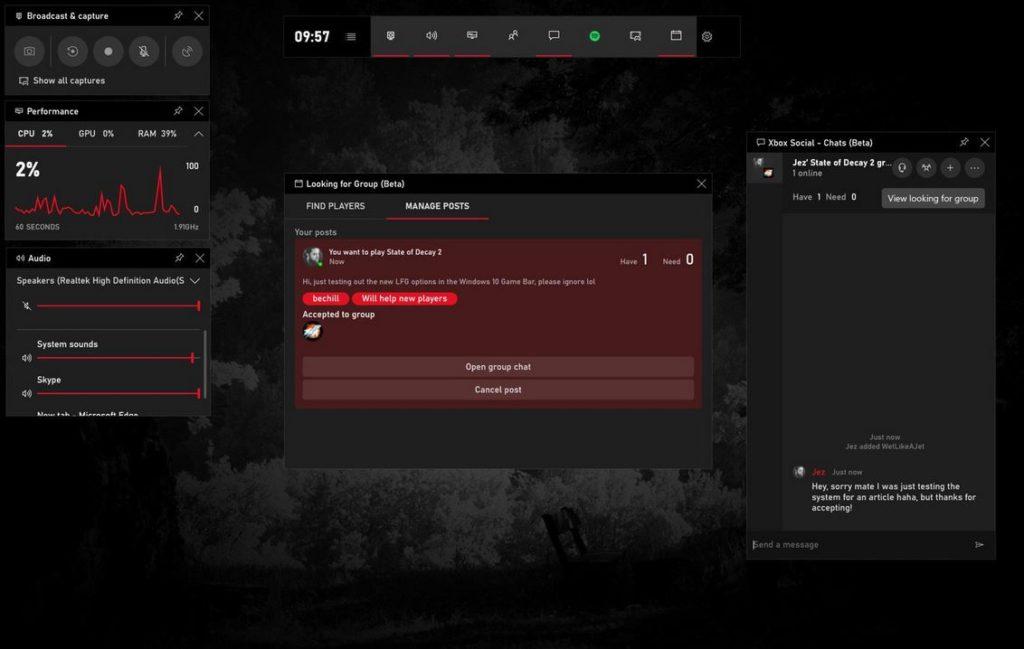 В бета-версии новой сборки Windows 10 обновлен Game Bar, где появилась новая функция для поиска других игроков