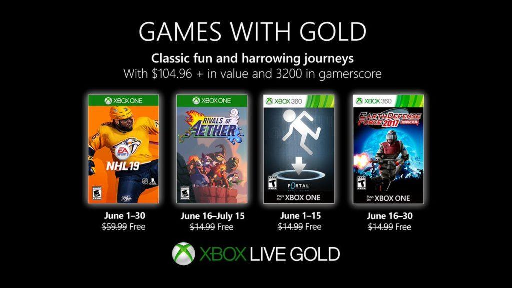 Xbox Live Gold июнь 2019