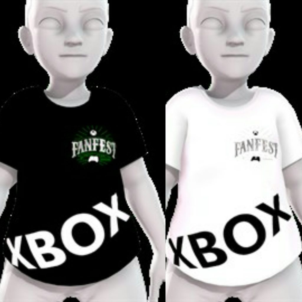 Xbox FanFest 5th Anniversary Black White Shirt