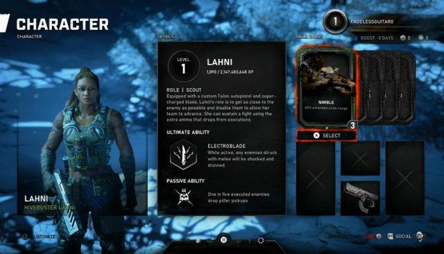 «Lahni» была представлена как второй персонаж разведчик с ультой в виде электрического ножа