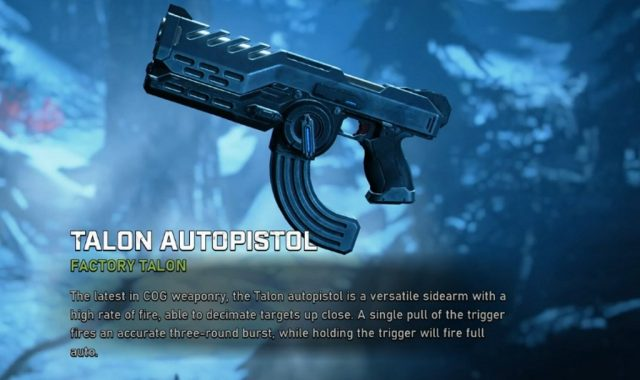 Разведчик также использует новый пистолет «Talon», который вы можете увидеть на картинке.
