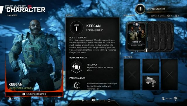 В Gears 5 Escape на E3 2019 был показан персонаж поддержки «Keegan»,
