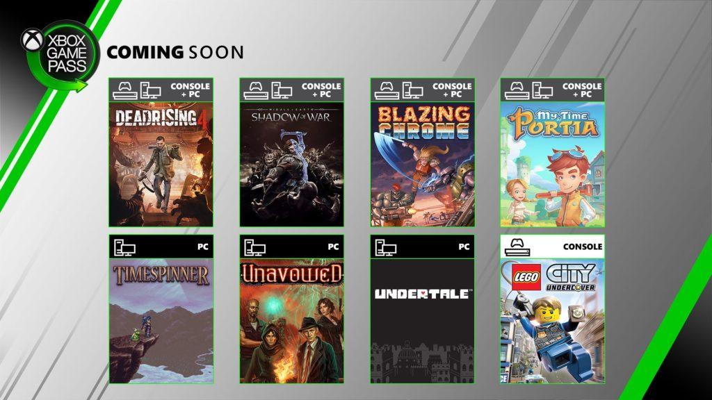 Xbox Game Pass июль 2019 года