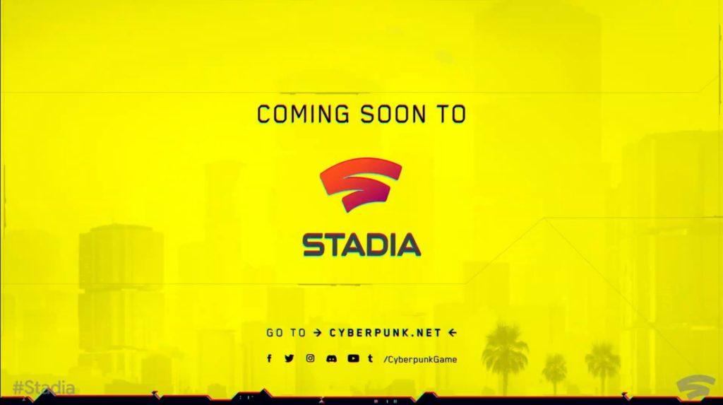 Cyberpunk 2077 будет доступен в Google Stadia