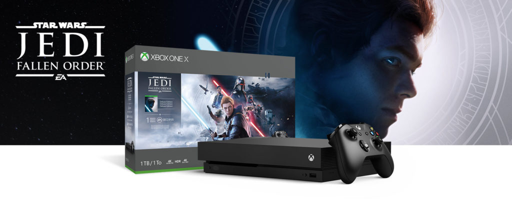 Комплекты Xbox One X и Xbox One S Star Wars Jedi: Fallen Order
