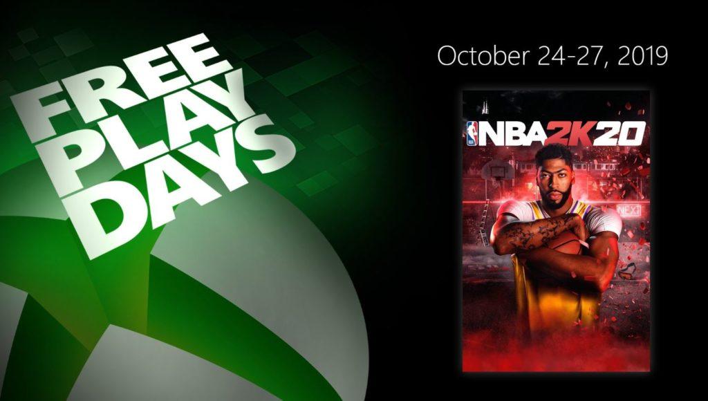 Бесплатные выходные в Xbox Live NBA 2020