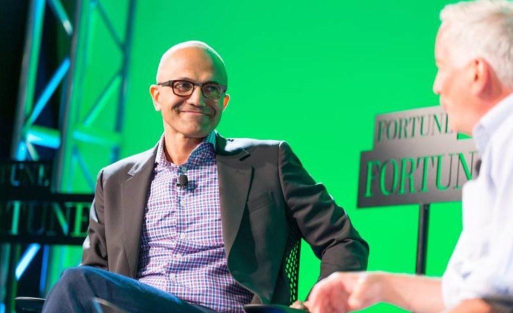 Генеральный исполнительный директор Microsoft (Satya Nadella) получил прибавку к зарплате в размере 66% от базового оклада