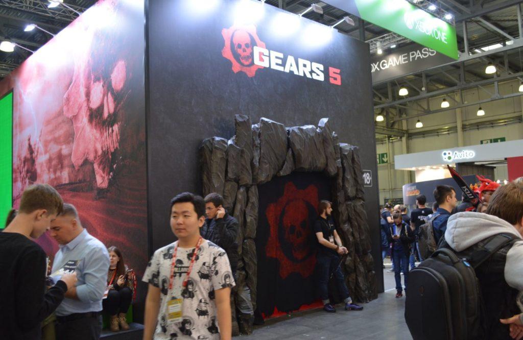 Вход в павильон Gears 5