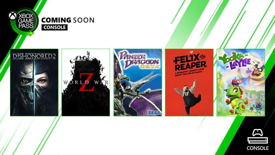 Xbox Game Pass октябрь 2019 года