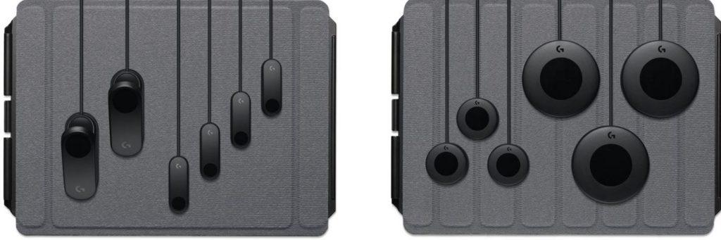 Logitech G Adaptive Gaming Kit включает в себя три маленькие и три большие кнопки с механическими переключателями