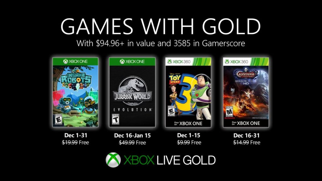Xbox Live Gold декабрь 2019 года