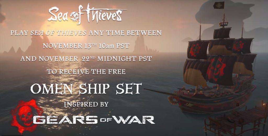подарки для игроков Sea of Thieves в стиле Gears of War
