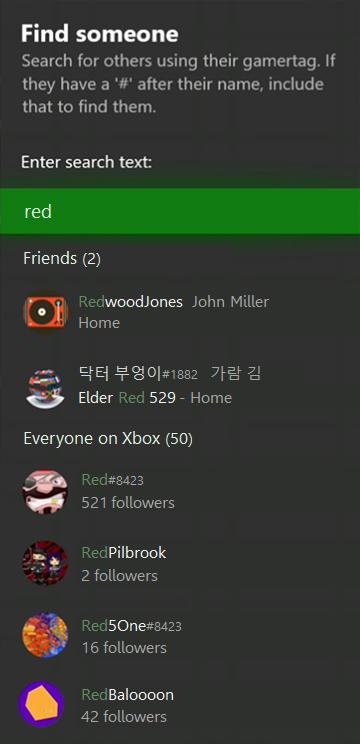 упрощен поиск друзей или новых партнеров по команде xbox one