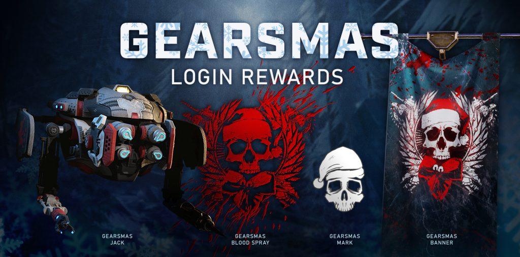 вас ожидает специальный праздничный ивент в режиме Орда, новая карта для режима Побег, а также рождественские облики для персонажей и оружия Gearsmas Gears 5