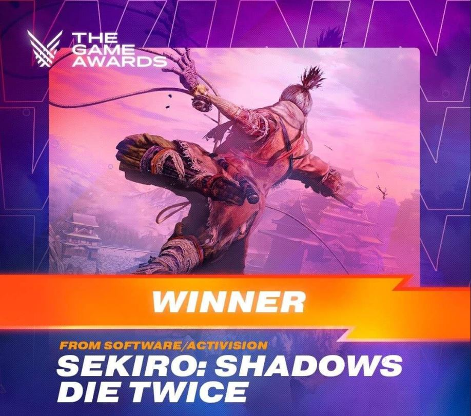 Sekiro Shadows Die Twice – игра года на церемонии вручения наград 2019