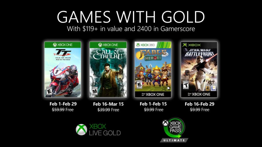 Xbox Live Gold февраль 2020 года