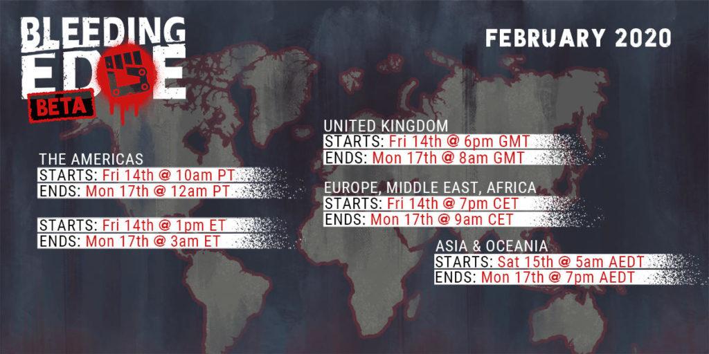 Bleeding Edge Beta расписание
