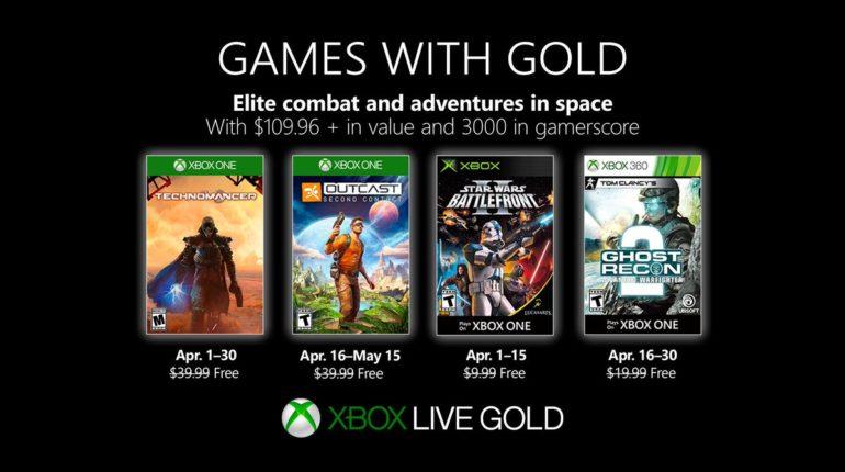 Xbox Live Gold апрель 2019 года
