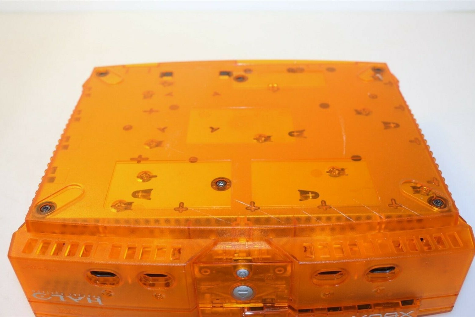 Original XBox Orange Translucent Halo Special Edition дно