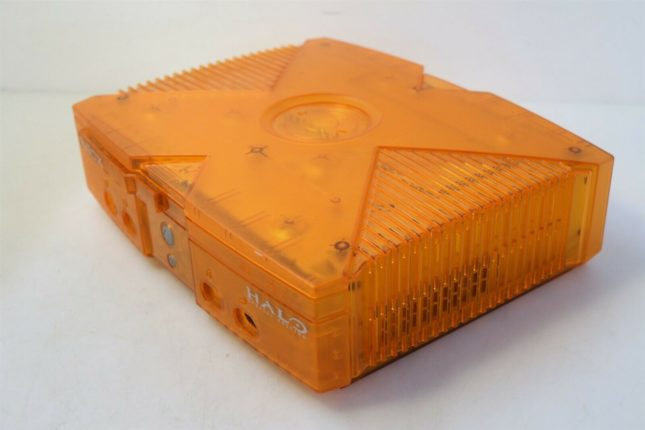 Original XBox Orange Translucent Halo Special Edition общий вид