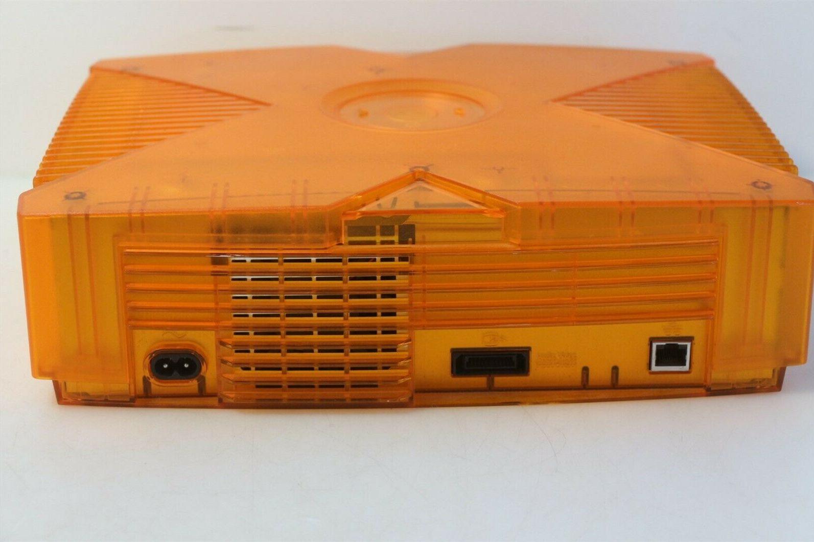Original XBox Orange Translucent Halo Special Edition сзади
