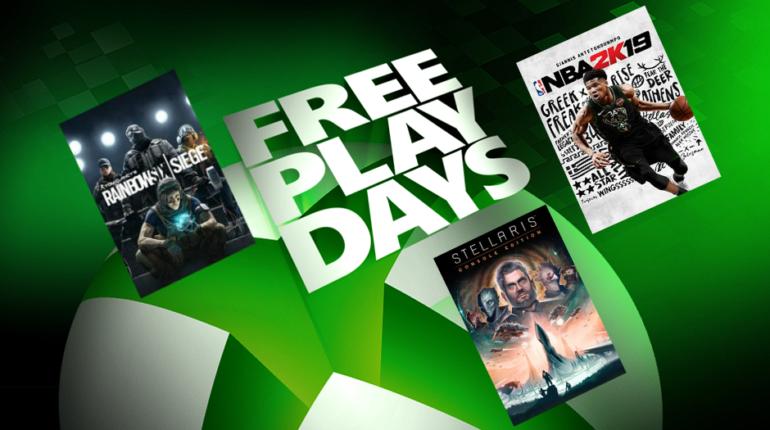 Дни бесплатной игры на Xbox One Rainbow Six Siege, NBA 2K19 и Stellaris Console Edition
