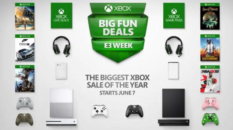 Распродажа в магазине Xbox в честь E3 2019