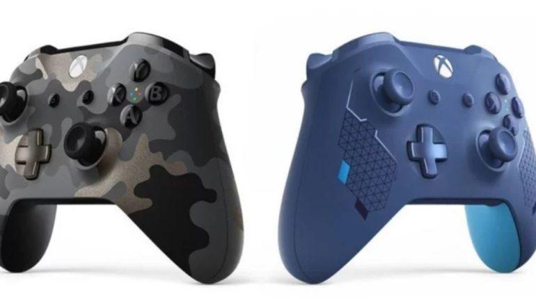 Контроллеры Xbox One Night Ops Camo и Sport Blue на Gamescom 2019