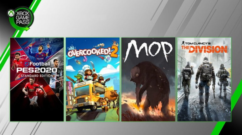 PES 2020, Overcooked 2, Мор и The Division добавлены в Xbox Game Pass декабрь 2019
