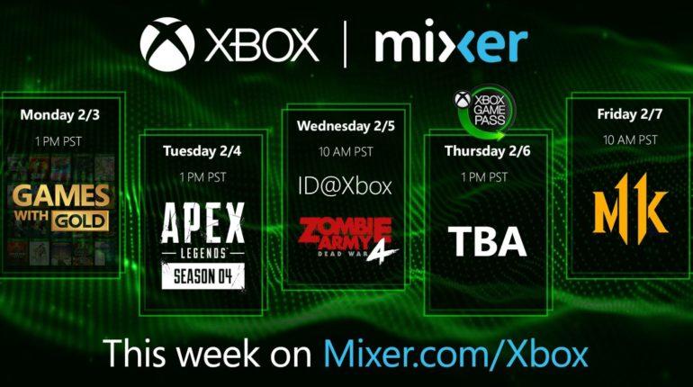 Mixer Xbox анонс февральской подборки Xbox Game Pass
