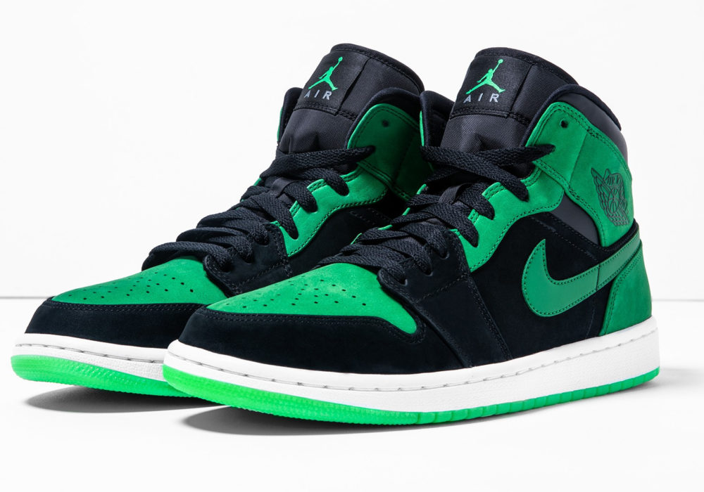 Xbox Green and Black Air Jordan общий вид кроссовок