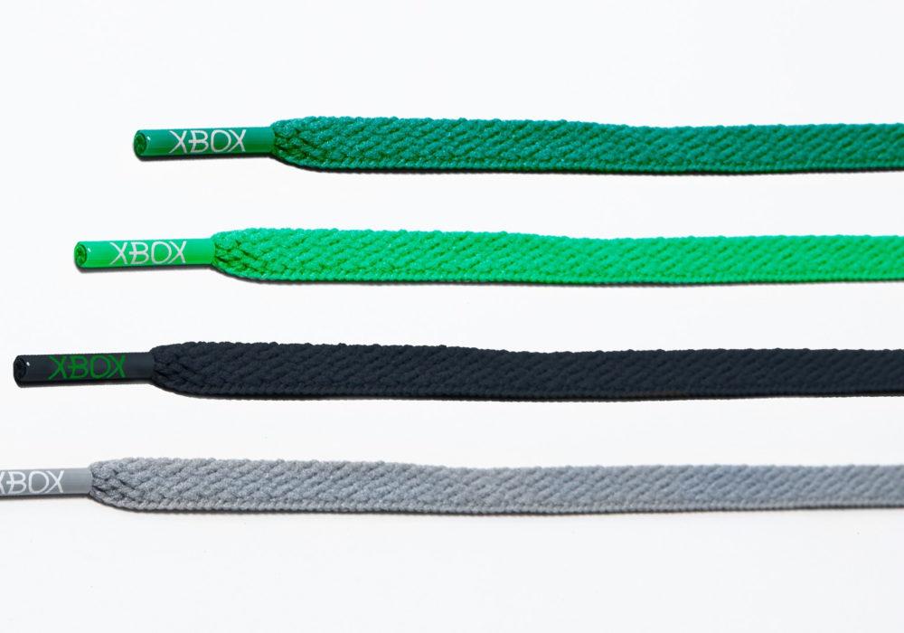 Xbox Green and Black Air Jordan шнурки разного цвета