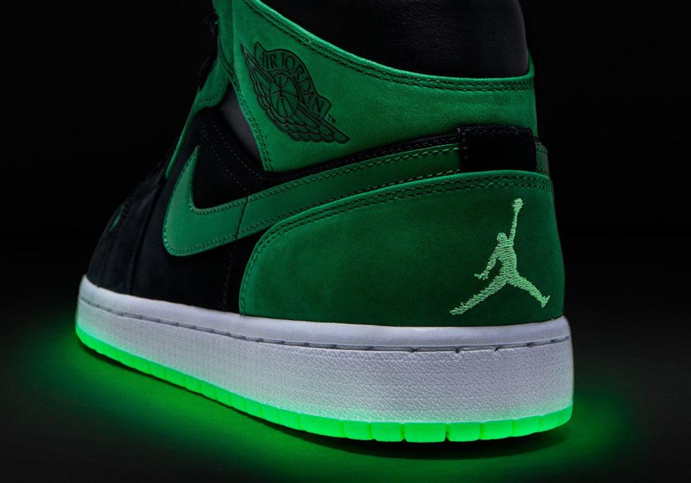 Xbox Green and Black Air Jordan светящаяся подошва