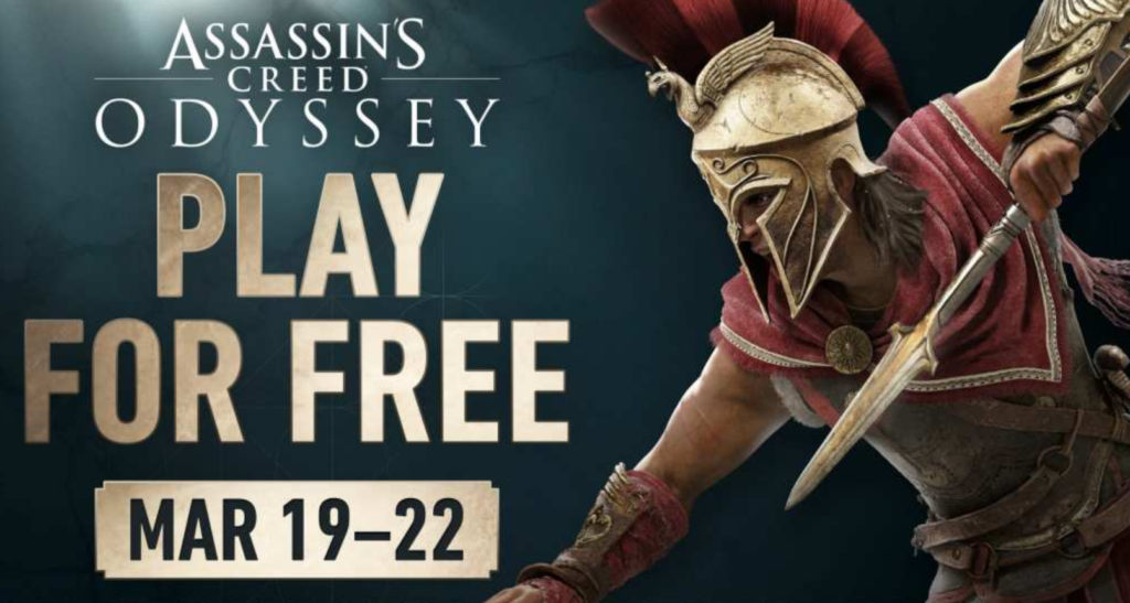 Assassin's Creed Odyssey Free Weekend март 2020 года Xbox One