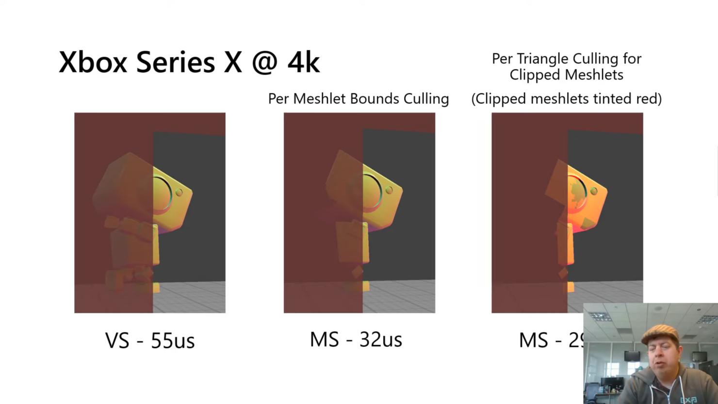 Разбивка времени рендеринга с использованием различных сеточных шейдеров + продвинутые методы отбора 2