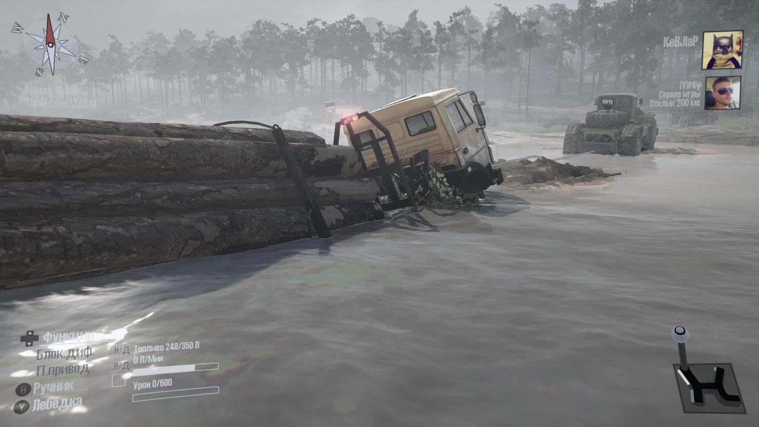 Брод реки MudRunner4