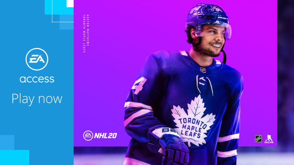 NHL 20 добавлена в EA Access