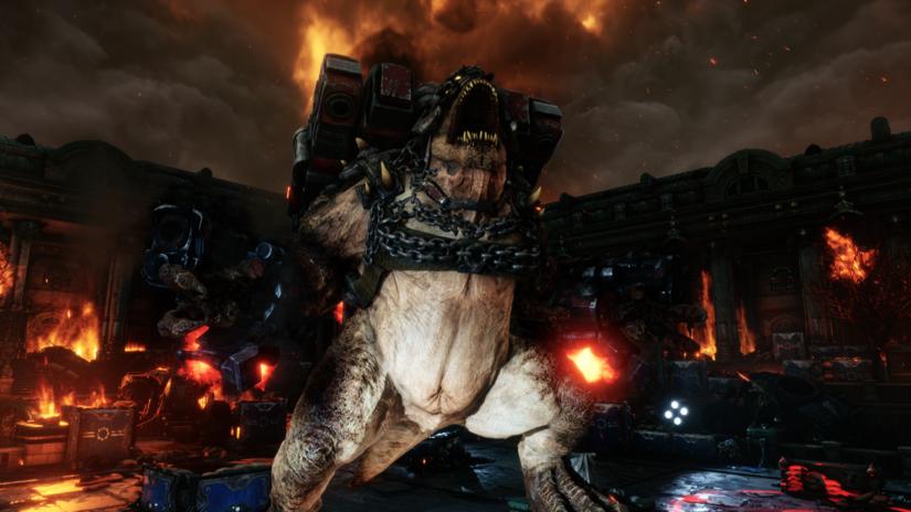Gears Tactics бой с Брумаком