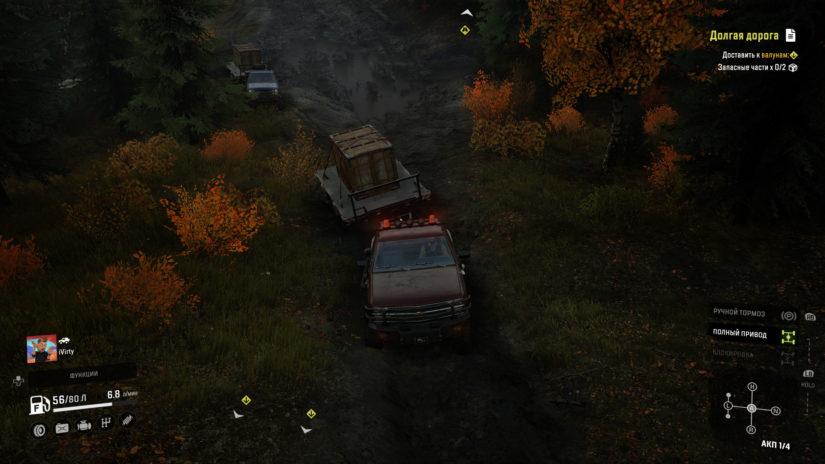 SnowRunner перевозка грузов на пикапе