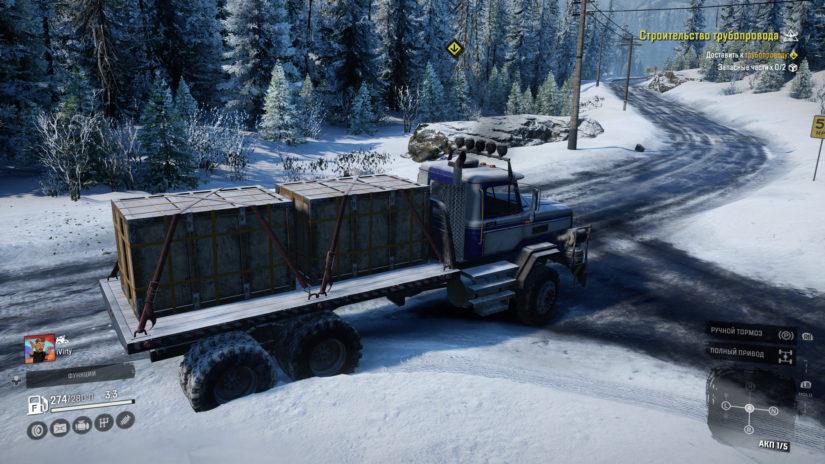 SnowRunner перевозка ящиков