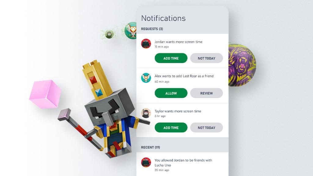 Управление списком друзей через приложение Семейных настроек Xbox